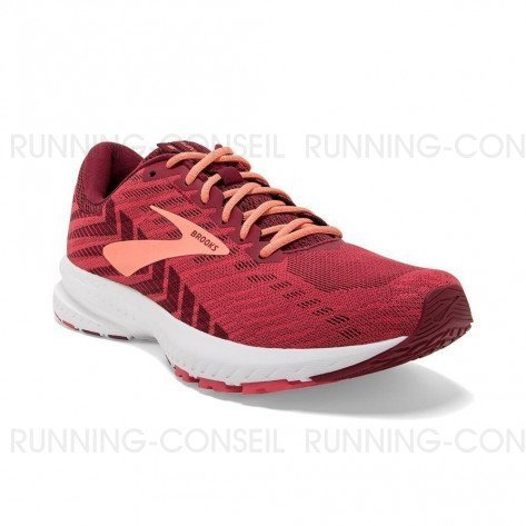 BROOKS LAUNCH 6 Femme   Rumba Red / Teaberry / Coral