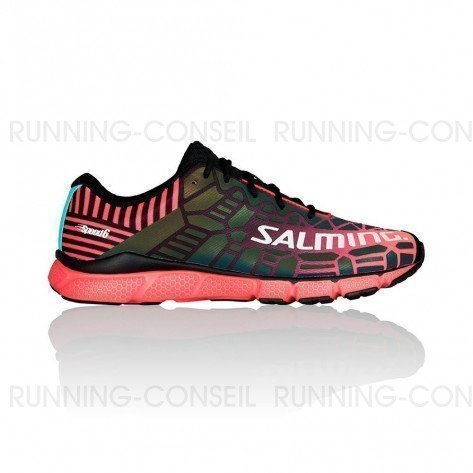 SALMING SPEED 6 Femme | Black / Bright Coral