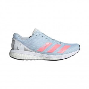 ADIDAS ADIZERO BOSTON 8 Femme | Sky Tint / Light Flash Red / Ftwr White